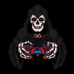 Gamer Gaming Totenkopf GG Skull Schädel Geschenk