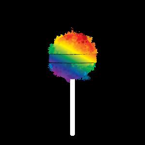 Lollipop Lutscher Regenbogen