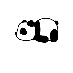 panda Müde/schlafen/faul