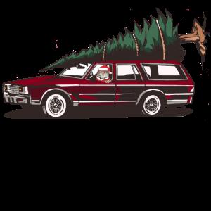 Weihnachtsmann im Auto,X-mas,Weihnachten Shirt car