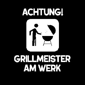Achtung Grillmeister Am Werk Geschenk für Papa