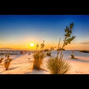 Sonnenuntergang, White Sands National Monument