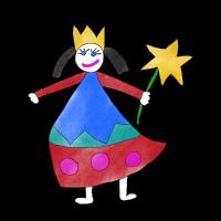 Kleine Prinzessin Kinderzeichnung