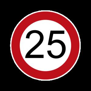Happy Birthday 25 Verkehrsschild Geburtstag