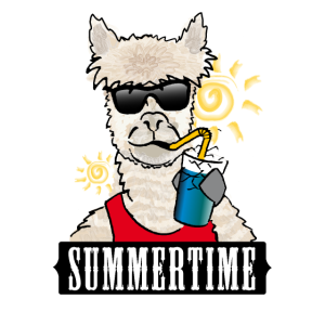 Summertime Lama Alpaka Shirt für Frauen