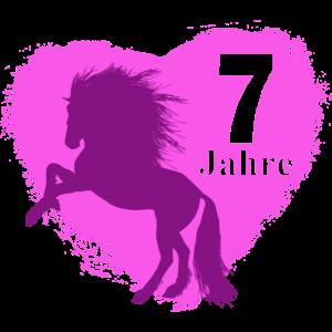 Geburtstag 7 Jahre alt Pferd Pony Reiterin Reiten