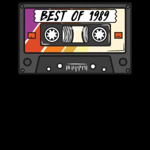 Best of T-Shirt 90s Retro Kasette 1989 90er