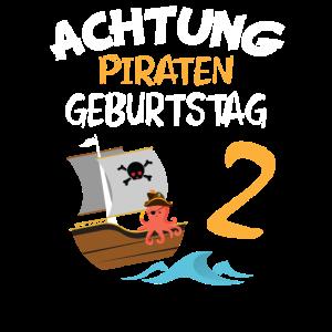 2. Geburtstag Kind zwei Jahre alt geworden Pirat