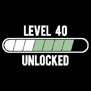 40. Jahre - Level 40 unlocked