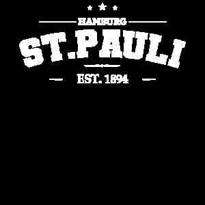 St Pauli Sankt Hamburg Vintage Retro Logo Geschenk