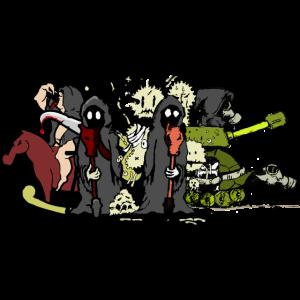 Vier Apokalyptische Reiter (ddp)