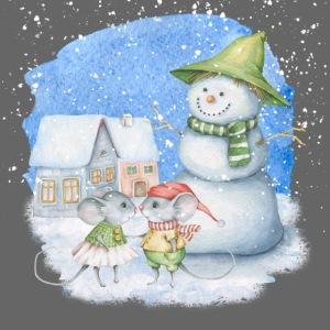 Cute Mice Snowman