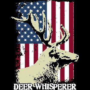 Jagd unter dem Motto Deer Whisperer Tee, Awesome Retro