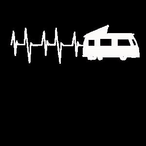 Heartbeat Wohnwagen Herzschlag Karavan Bus