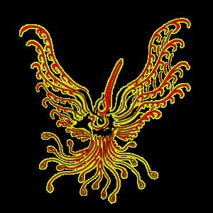 TribalBird rotGelb