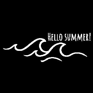 Hallo Sommer mit Wellen - Maritimes T-shirt