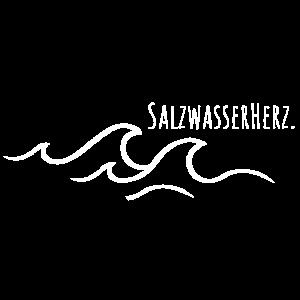 Salzwasserherz mit Wellen