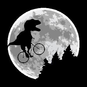 Dino Fahrrad Fliegen Mond