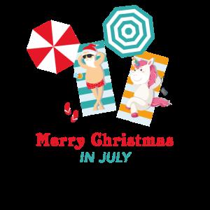 Weihnachten im Juli Shirt, Frohe Weihnachten im Juli