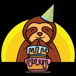 Geburtstags Faultier