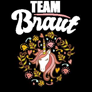 JGA Team Braut Einhorn Junggesellinnenabschied