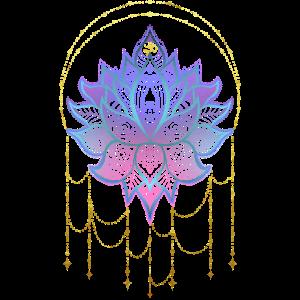 Spirituelle Lotusblume Namaste Yoga & Om
