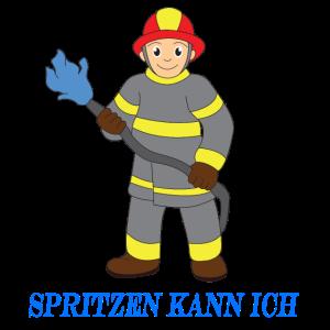 Spritzen kann ich Feuerwehr Comic Kinder Geschenk