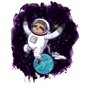 Faultier im Weltraum