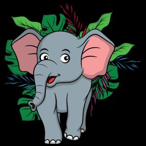 Elefant im Dschungel, Dschungeltiere, TÖRÖÖ