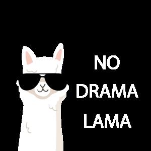 Tolles lustiges Lama Alpaka Shirt No Drama Lama