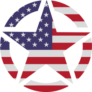 US Army Star Flag Color