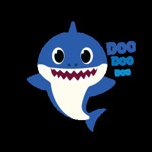 Vati-Haifisch-Geschenk Niedlicher Baby-Haifisch, der Familie zusammenbringt
