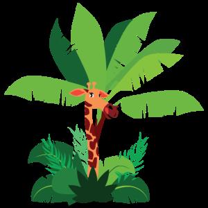 Giraffen im Dschungel, Dschungeltiere, Giraffen