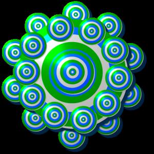 Flower Power Zielscheibe aus Kreisen; Mandala