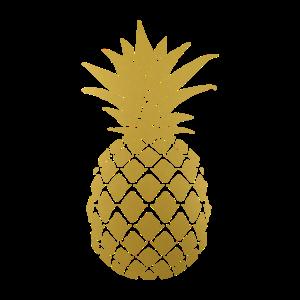 Tropischer Sommer der goldenen Ananas