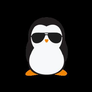 Cooler Pinguin mit Sonnenbrille