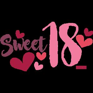 Sweet Eighteen Herz 18 Geburtstag HARIZ Geschenk R