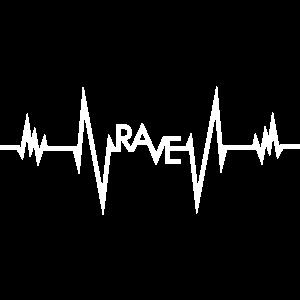 RAVE EKG HERZSCHLAG PULS TECHNO GESCHENK