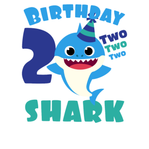 Kinder Baby Shark Birthday Boy Grafik 2 Jahre alt -