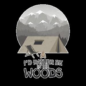 Camping in der Wildnis! geschenk herren geburtstag