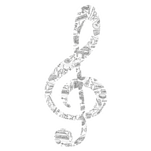 Notenschlüssel Musikinstrument