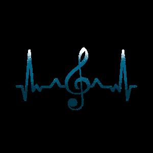 Notenschlüssel Puls Herz