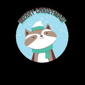 Frohe Weihnachten-Waschbär