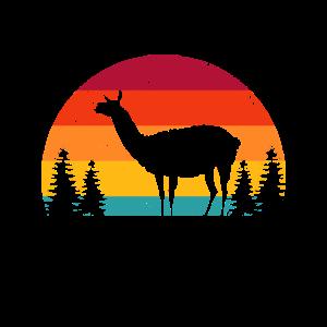Retro Lama Geschenk I Llama Alpaka