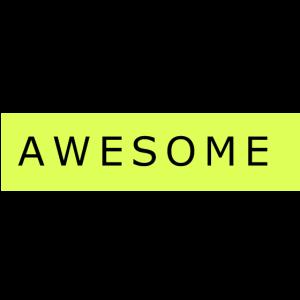 """Cooles """"Awesome"""" Shirt Geschenk Gelb"""