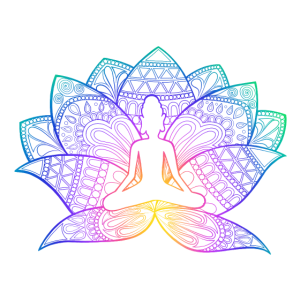 Lotusbuddha Regenbogen