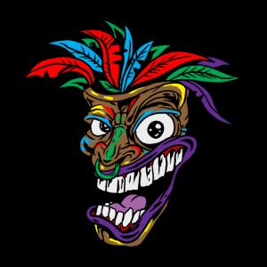 Cannabis Tiki Maske Rauch Hanf Gras Pot Leaf Geschenk