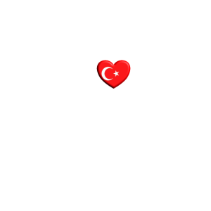 Herzschlag Türkei Herz türkische Flagge Geschenk