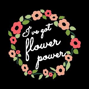 Flower Power Blumenkranz - Valentinstag Motiv