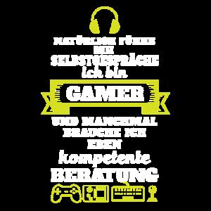 Lustiger Gamer Spruch - gaming t shirt Beratung